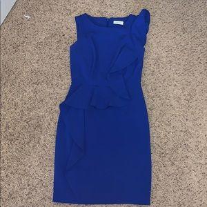 Blue Calvin Klein Cocktail Dress
